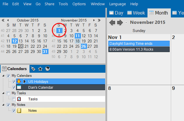 Whats New On Calendar >> Vueminder Blog What S New In Version 11 3 Date Coloring