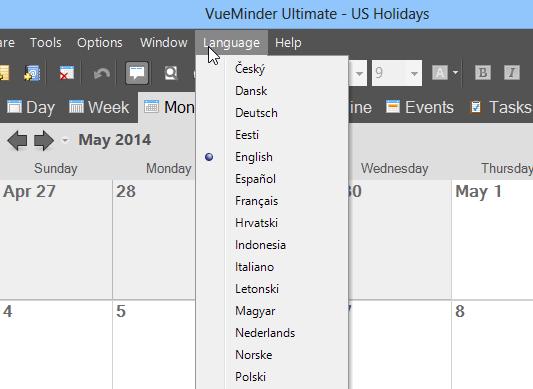 Download Language Translations of the Best Calendar Program