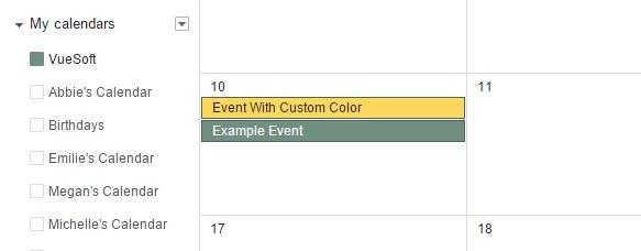VueMinder Pro and Ultimate Help - Add Google Calendar