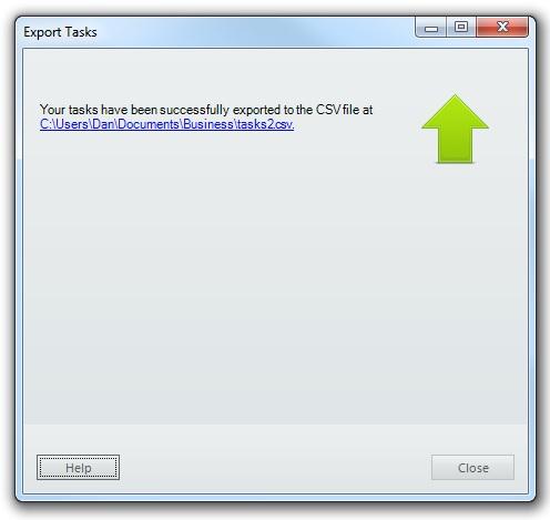 VueMinder Pro and Ultimate Help - Export Tasks