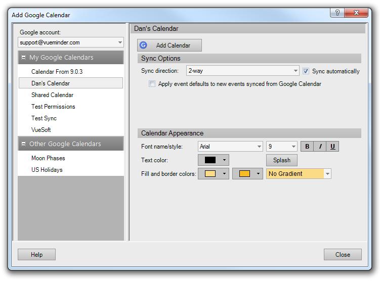 VueMinder Blog | What's New in Version 9 1 - Google Calendar